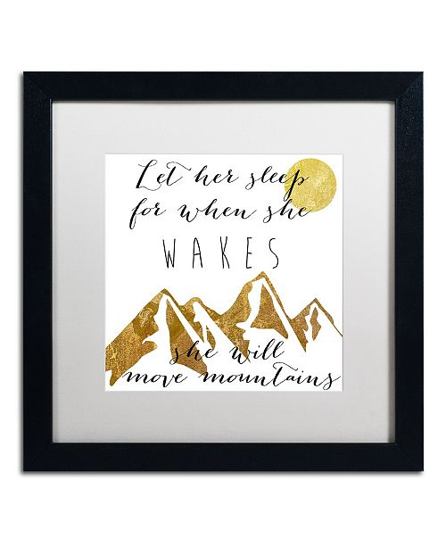 """Trademark Global Color Bakery 'Mountains' Matted Framed Art - 16"""" x 16"""""""