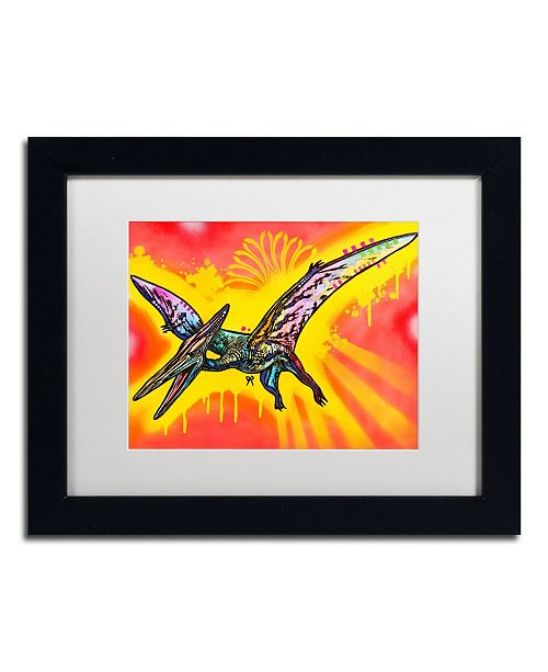 "Trademark Global Dean Russo 'Pterodactyl' Matted Framed Art - 11"" x 14"""