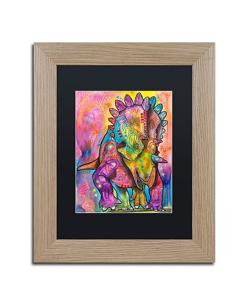 "Trademark Global Dean Russo 'Triceratops' Matted Framed Art - 11"" x 14"""