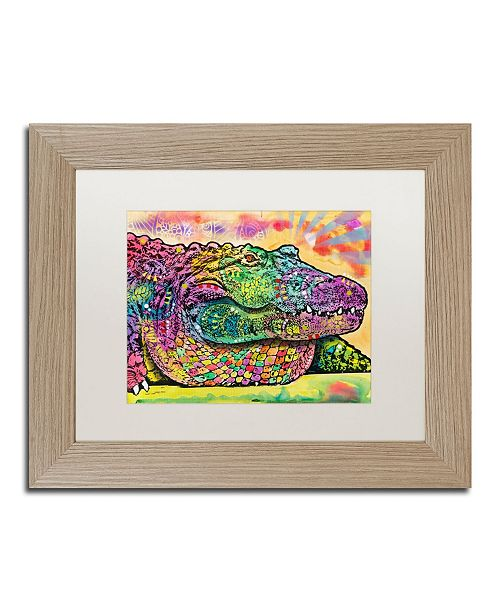 "Trademark Global Dean Russo 'Crocodile' Matted Framed Art - 11"" x 14"""