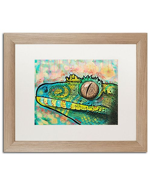 "Trademark Global Dean Russo 'Gecko' Matted Framed Art - 16"" x 20"""