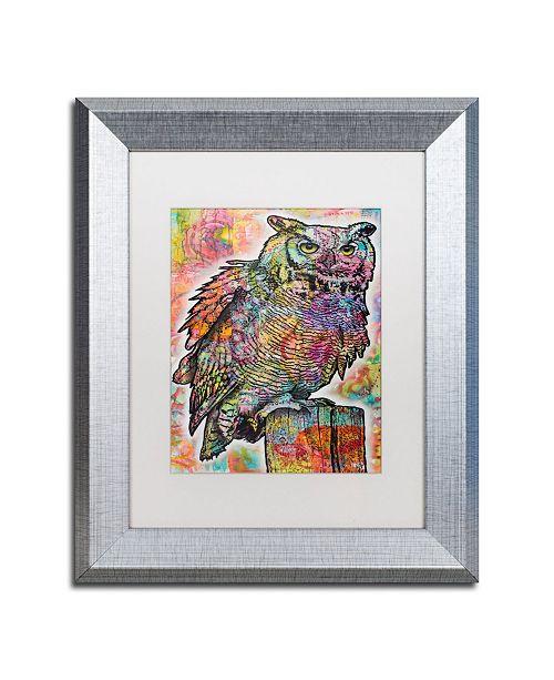 """Trademark Global Dean Russo 'Owl Perch' Matted Framed Art - 11"""" x 14"""""""