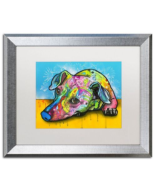 "Trademark Global Dean Russo 'I'm Waiting' Matted Framed Art - 16"" x 20"""