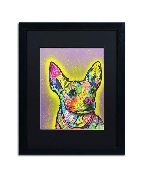 """Trademark Global Dean Russo 'Listening' Matted Framed Art - 16"""" x 20"""""""