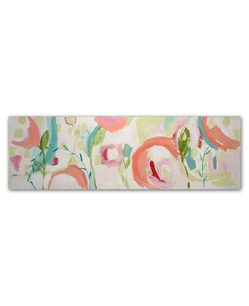 """Trademark Global Carrie Schmitt 'Dhanurasana' Canvas Art - 16"""" x 47"""""""