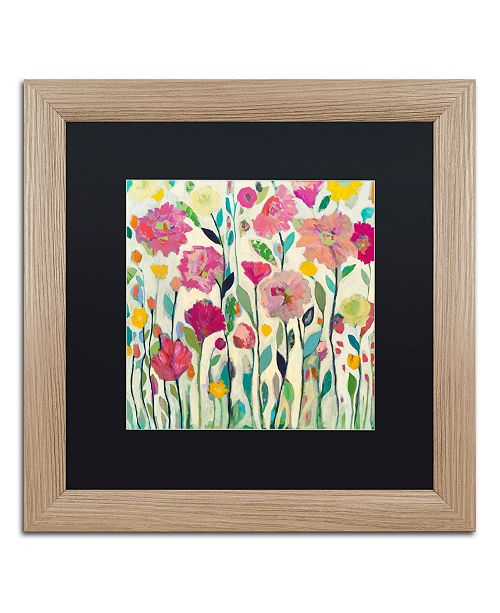 "Trademark Global Carrie Schmitt 'She Lived in Full Bloom' Matted Framed Art - 16"" x 16"""