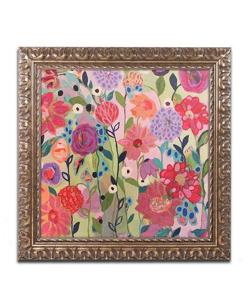 """Trademark Global Carrie Schmitt 'Feeling Groovy' Ornate Framed Art - 11"""" x 11"""""""