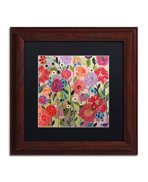 """Trademark Global Carrie Schmitt 'Feeling Groovy' Matted Framed Art - 11"""" x 11"""""""