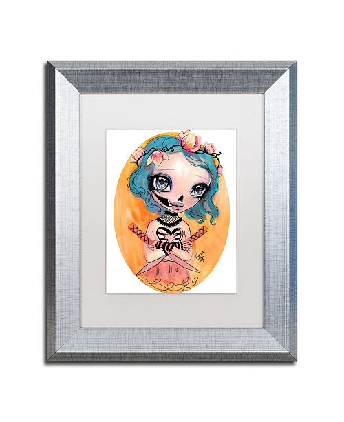 "Trademark Global Natasha Wescoat 'Katana Kisser' Matted Framed Art - 11"" x 14"""