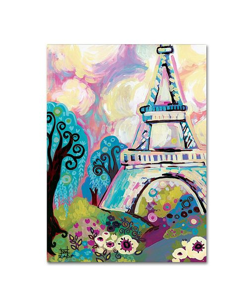 """Trademark Global Natasha Wescoat 'La Dame De Fer' Canvas Art - 35"""" x 47"""""""