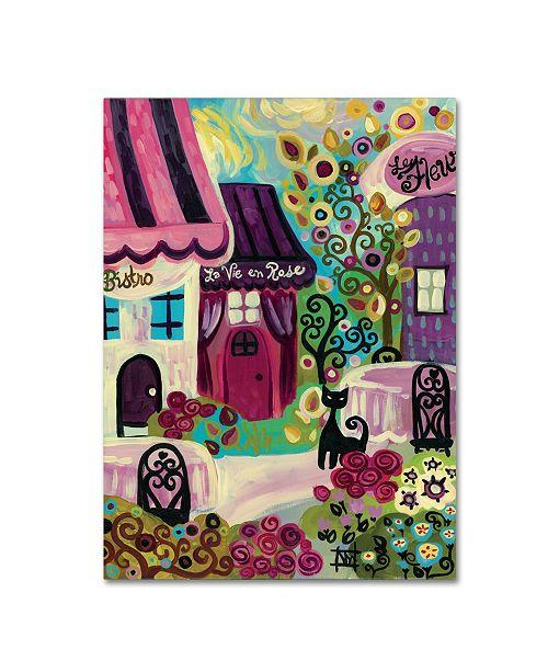 "Trademark Global Natasha Wescoat 'La Vie En Rose' Canvas Art - 18"" x 24"""
