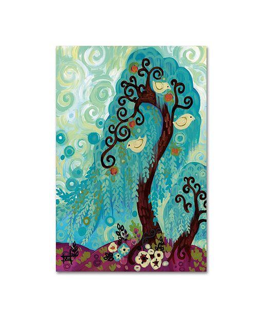 "Trademark Global Natasha Wescoat 'Spritely Blue Willows' Canvas Art - 12"" x 19"""