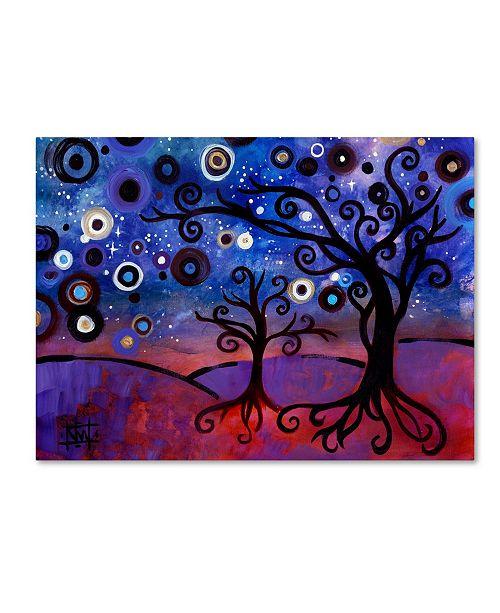 "Trademark Global Natasha Wescoat 'Star Lit Dream' Canvas Art - 14"" x 19"""