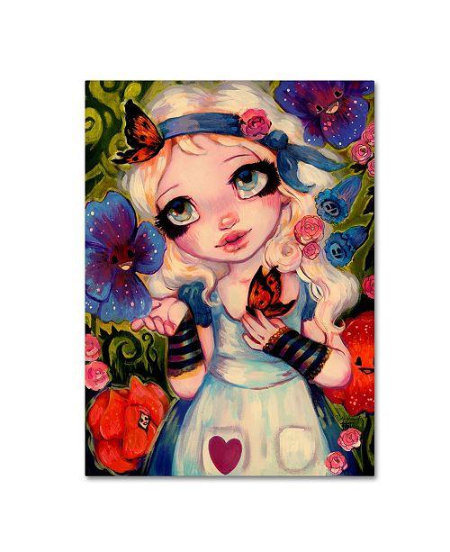 "Trademark Global Natasha Wescoat 'The Talking Flowers' Canvas Art - 14"" x 19"""