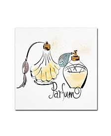 "Lisa Powell Braun 'Perfume Bottles' Canvas Art - 14"" x 14"""