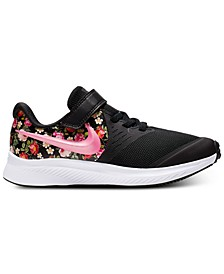 Little Girls' Star Runner 2 Vintage Floral Casual Athletic Sneakers from Finish Line