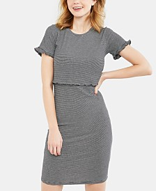Motherhood Maternity Plus Size Tiered Nursing Dress ...