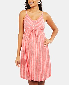 Motherhood Maternity Striped Dress