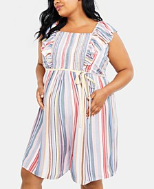 Plus Size Ruffled Romper