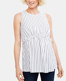 Maternity Striped Babydoll Top