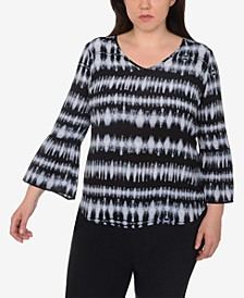 Plus Size High-Low Printed Top