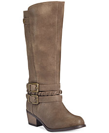 Rampage Little and Big Girls Brown Riding Boots