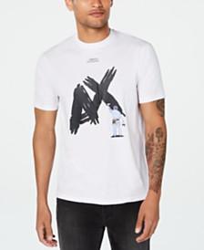 A X Armani Exchange Men's Textured Paint Logo T-Shirt