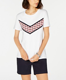 Tommy Hilfiger Graphic Crewneck Top, Created for Macy's