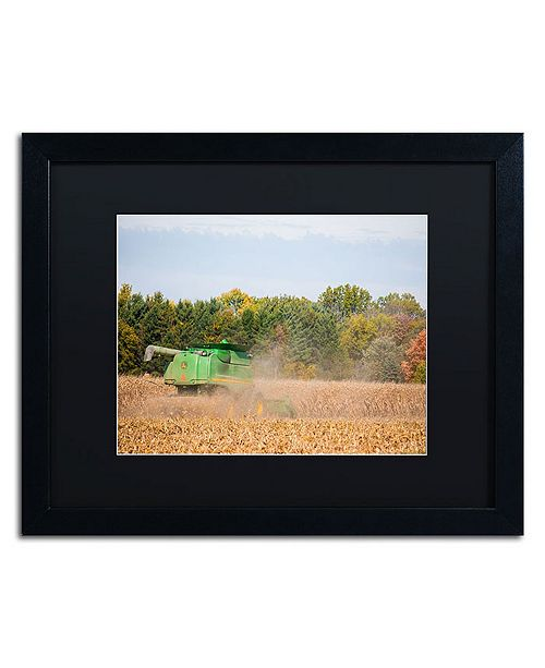 "Trademark Global Jason Shaffer 'John Deere' Matted Framed Art - 20"" x 16"""