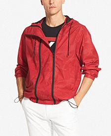 DKNY Men's Double-Zip Hooded Windbreaker