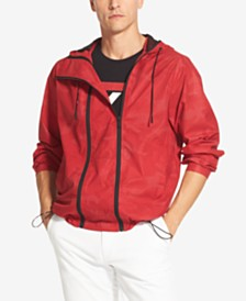 DKNY Men's Double-Zip Hooded Windbreaker