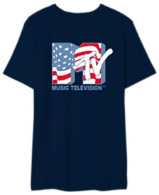 MTV Men's American Flag Tee