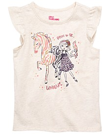 Little Girls Zebra Girl T-Shirt, Created for Macy's