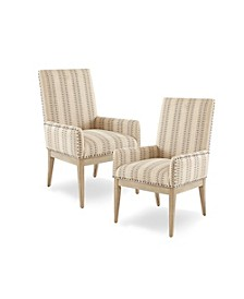 Rika Dining Arm Chair, Set Of 2