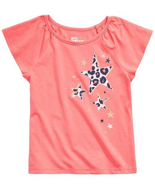 Epic Threads Little Girls Leopard Stars T-Shirt, Created for Macy's