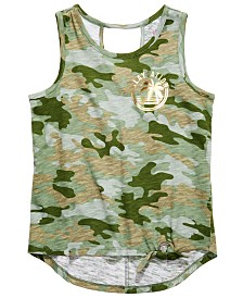 Epic Threads Big Girls Camo-Print Tie-Front Tank Top, Created for Macy's