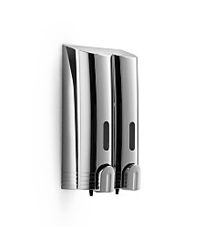 WS Bath Collections WSBC Double Wall Mount Soap Dispenser in Polished Chrome