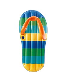 "Sports Beach Striped Flip Flop 71"" Inflatable Swimming Pool Float"