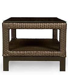 Belize Wicker Outdoor End Table, Created for Macy's