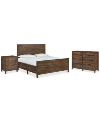 Edinburgh Storage Queen Bedroom Furniture, 3-Pc. Set (Queen Bed, Nightstand & Dresser)