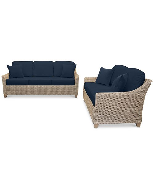 Awesome Furniture Willough Wicker Outdoor 2 Pc Set 1 Sofa 1 Forskolin Free Trial Chair Design Images Forskolin Free Trialorg