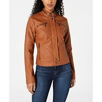 Deals on Maralyn & Me Juniors Faux-Leather Moto Jacket