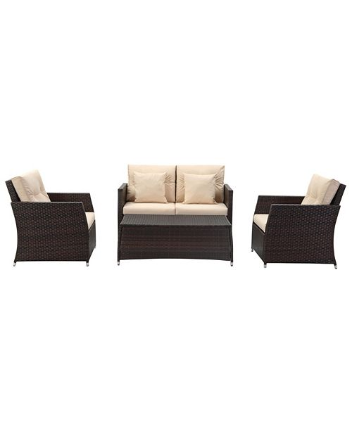 Safavieh Parry 4Pc Outdoor Seating Set