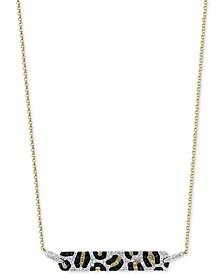 "EFFY® Multi-Color Diamond 18"" Bar Pendant Necklace (3/4 ct. t.w.) in 14k Gold"