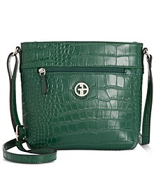 Solid Croc Bucket Crossbody, Created for Macy's