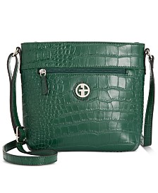 Giani Bernini Solid Croc Bucket Crossbody, Created for Macy's