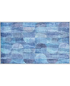 "Blue Watercolor 27"" x 45"" Accent Rug"