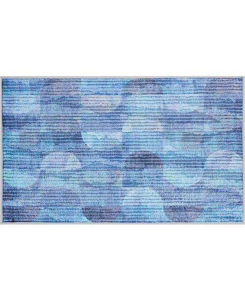 """Nourison Blue Watercolor 27"""" x 45"""" Accent Rug"""