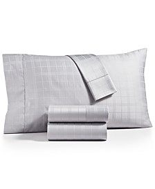 Windowpane Supima Cotton 550-Thread Count 4-Pc. California King Sheet Set, Created for Macy's