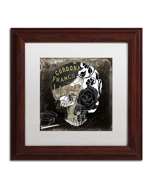 "Trademark Global Color Bakery 'Paris Halloween II' Matted Framed Art - 11"" x 11"""